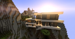 Descarca Modern Mountain House pentru Minecraft 1.8