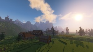Descarca Medieval Village with Castle pentru Minecraft 1.12.2