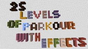 Descarca 25 Levels of Parkour With Effects pentru Minecraft 1.16.3