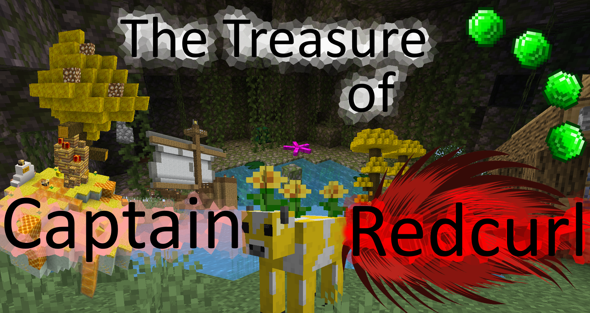 Descarca The Treasure of Captain Redcurl pentru Minecraft 1.16.5