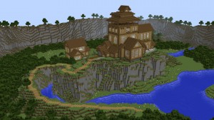 Descarca Cliffside Wooden Mansion pentru Minecraft 1.12